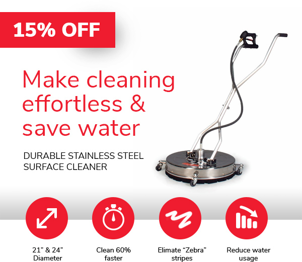 Make cleaning effortless and save water with a durable stainless steel surface cleaner