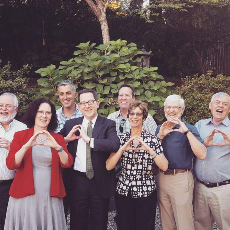 UO Pres with Lane Co Legislators