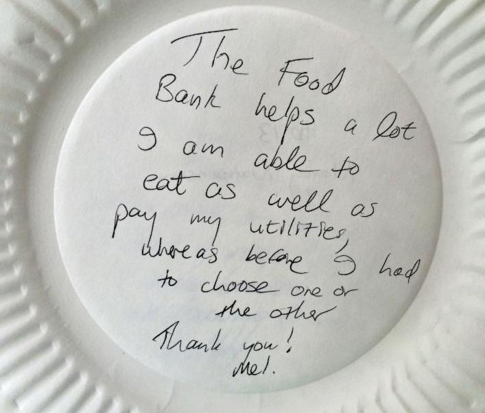 Food Bank Message