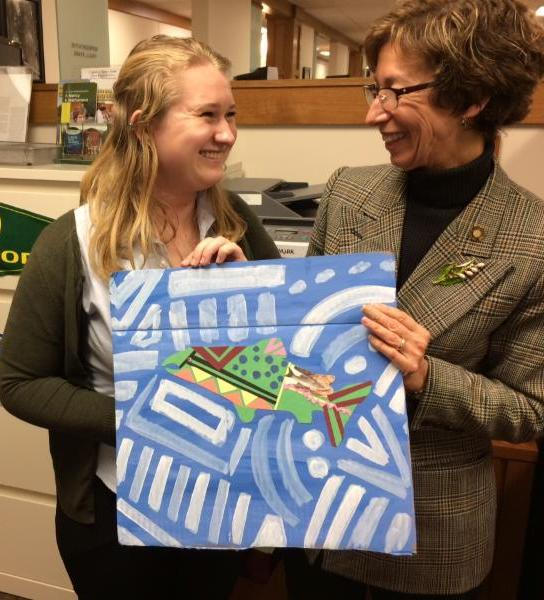 Student advocate for environment
