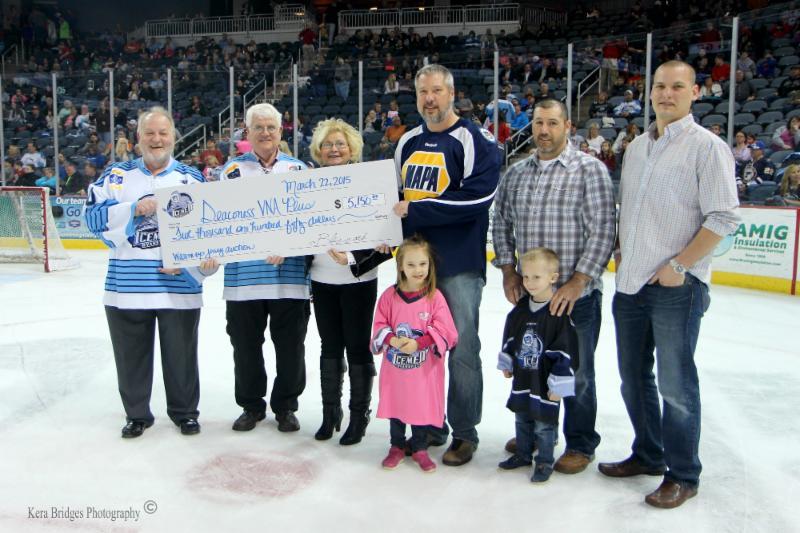 2015 Evansville Icemen donation