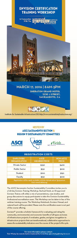 Asce Sacramento Section Envision Workshop