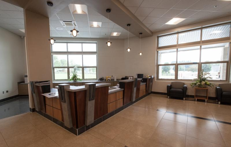 Laurel County Readiness Center Reception Desk