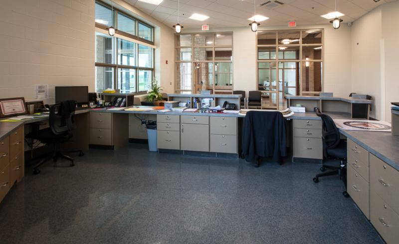 Reception Desk working area