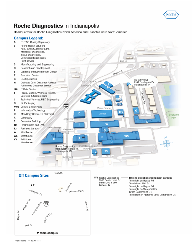 Roche Indianapolis Campus Map.Indianapolis Chapter Csi Education Seminar Roche Diagnostics Tour
