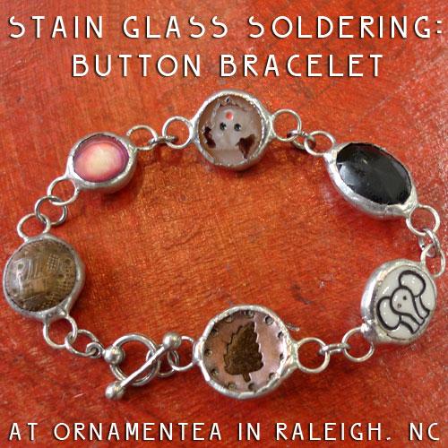 Stained Glass Soldering Button Bracelet November 7