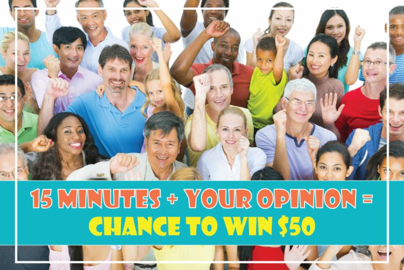 15 minutes _ your opinion _ Chance to Win _50