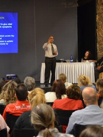 Dr Pawan presenting seminar in Greece, 2014