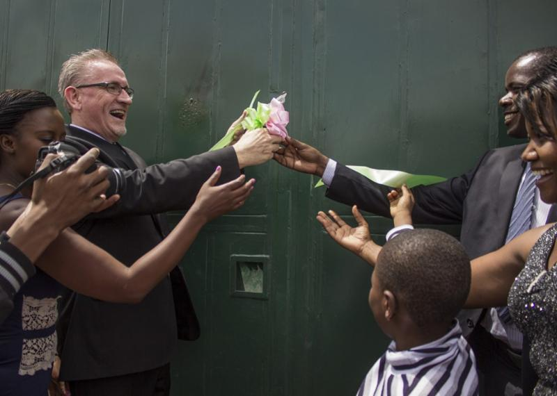 HOH Director Brian Thomson cut the ribbon at the grand opening of the Dream Centre