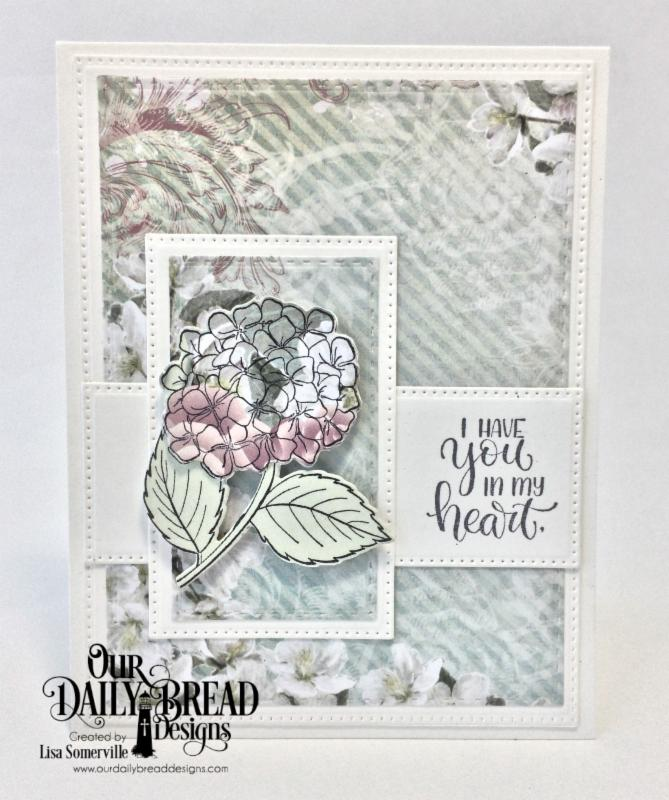 Our Daily Bread Designs Stamp/Die Duos: In My Heart, Paper Collection: Romantic Roses, Custom Dies: Pierced Rectangles, Double Stitched Rectangles