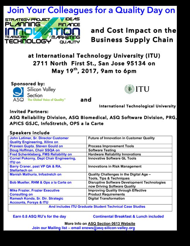 ASQ SV Mini-Conference Program