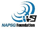 NAPSG Foundation Logo in blue and white