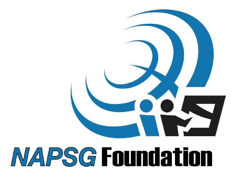 NAPSG Foundation Logo in blue and white