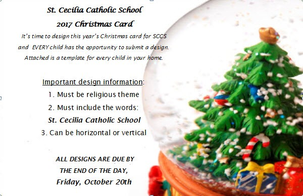 2017 Christmas Card Contest U2013 Artwork Due By Friday, October 20th