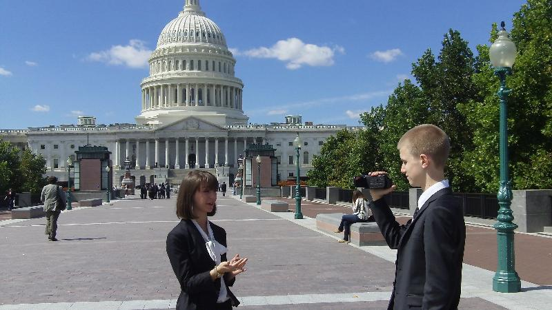 Alyssa and Brian at the Capitol