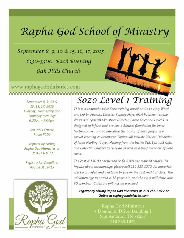 School of Ministry Sept 2015