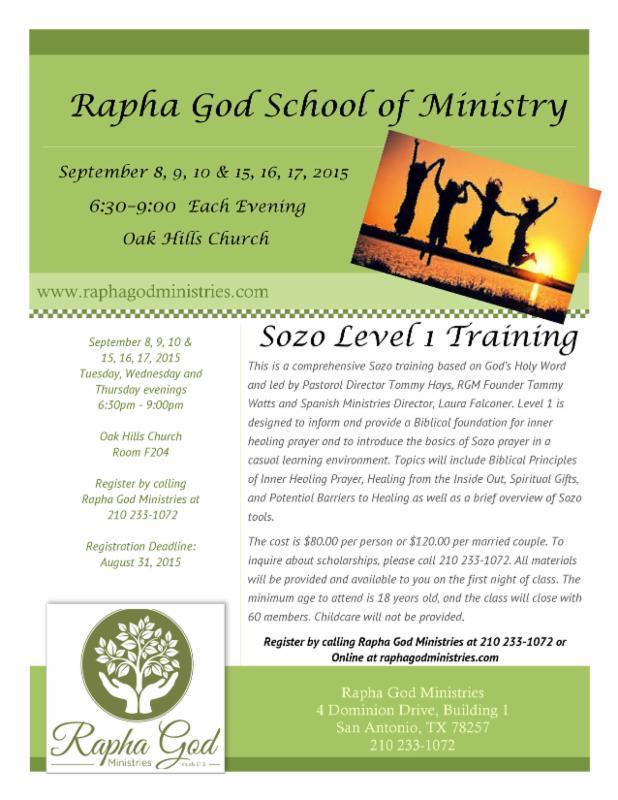 School of Ministry Sept 2015
