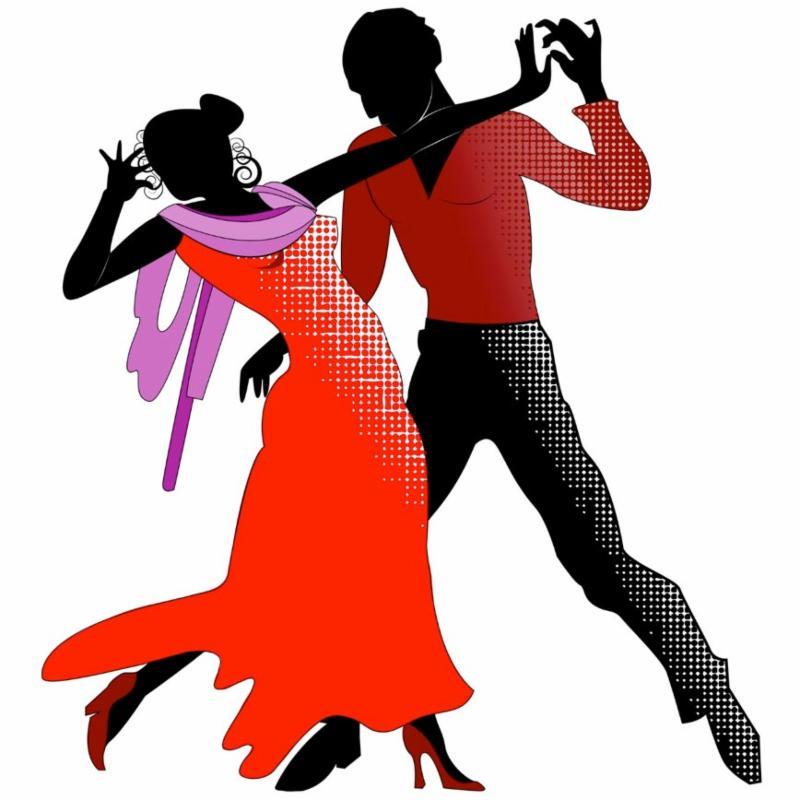 Tango couple clip art
