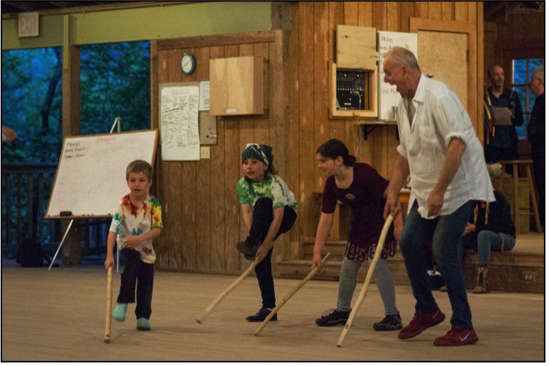 Steve Kotansky teaching kids
