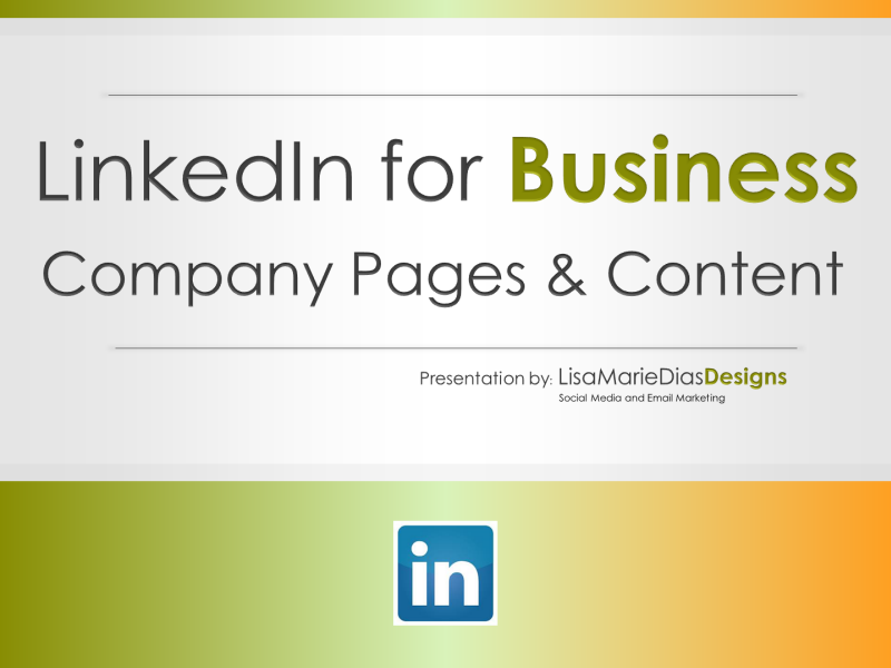 LinkedIn for Business - Company Pages and Content