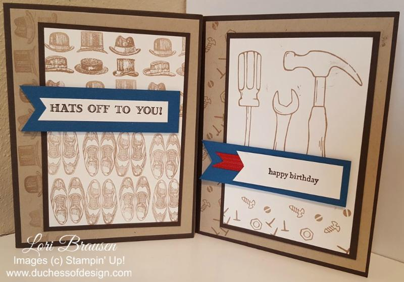 Masculine card ideas - one layout, two designs presented by Duchess of Design