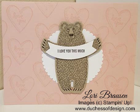 Duchess of Design Bear Hugs card I love you this much