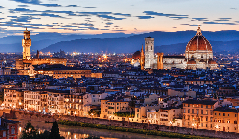 Florence Skyline at Twilight