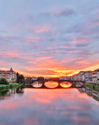 Sunset over the Arno