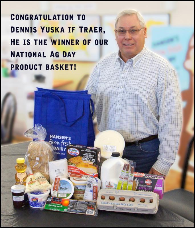 Dennis Yuska is our 2016 Ag Day winner!