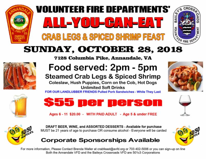 Annandale & Baileys October 28, 2018 CRABLEGS and SPICED