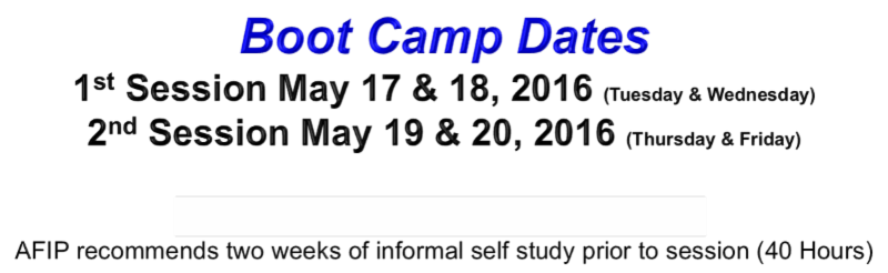 DRI AFIP Boot Camp Certification