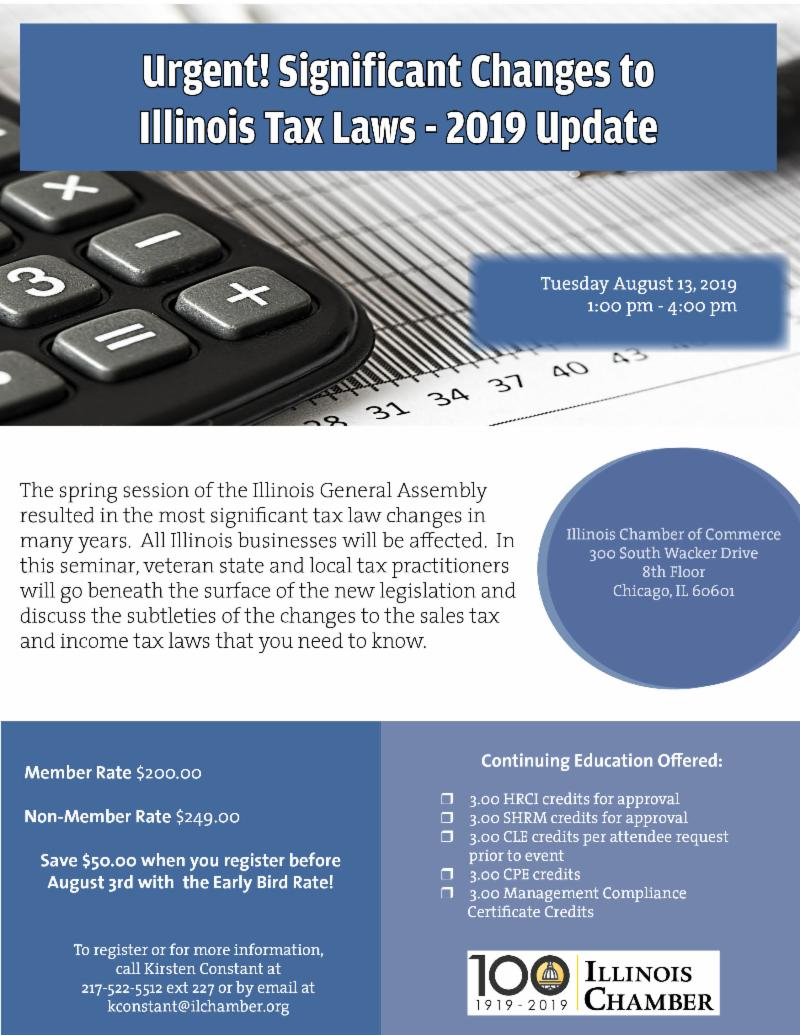 Urgent! Significant Changes to Illinois Tax Laws - 2019 Update