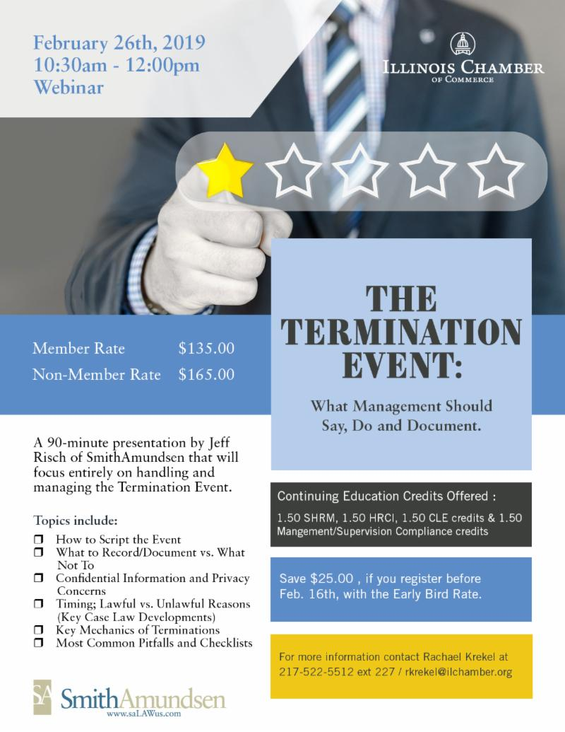 The Termination Event: What Management Should Say, Do and Document