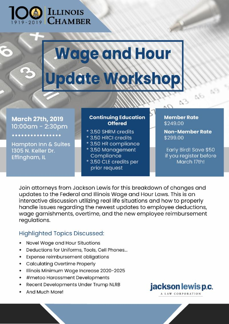 Wage and Hour Update Workshop - And More!