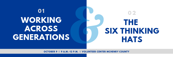 Working Across Generations and The Six Thinking Hats on Oct. 9