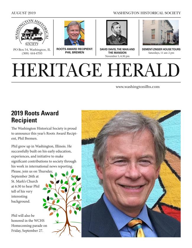 Washington Historical Society- Heritage Herald