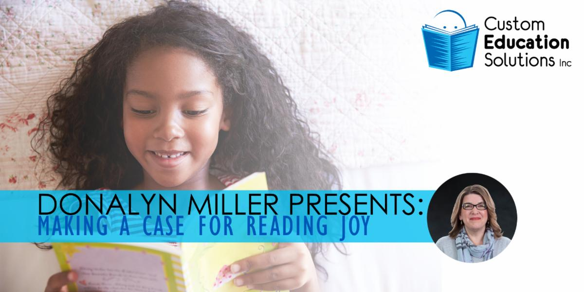 Making a Case for Reading Joy with Donalyn Miller at Custom Ed