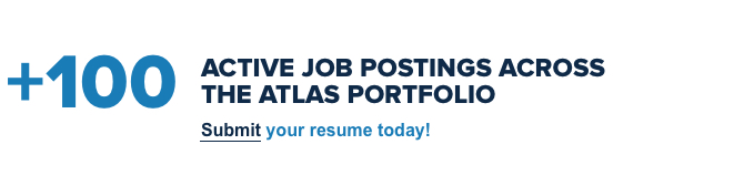 +100 Active job postings across the Atlas Portfolio