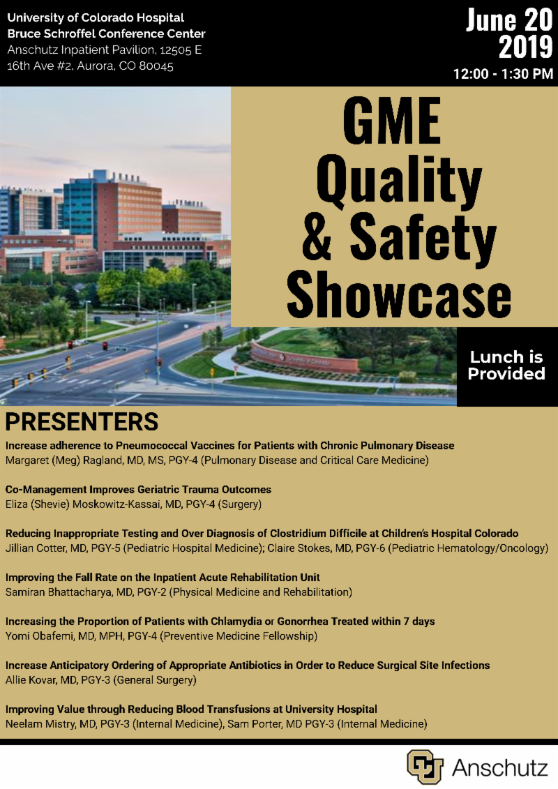 GME Quality & Safety Showcase