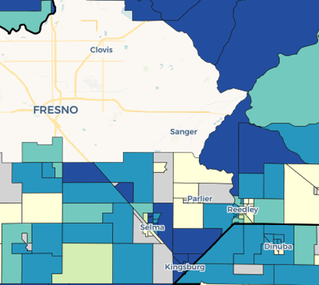Draft 2020 TCAC/HCD Opportunity Map Rural Areas