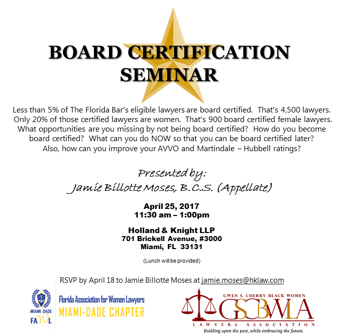 Board Certification Seminar