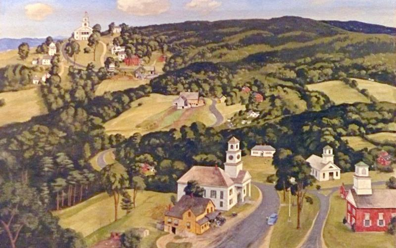 Photo of Westmoreland Town Hall mural
