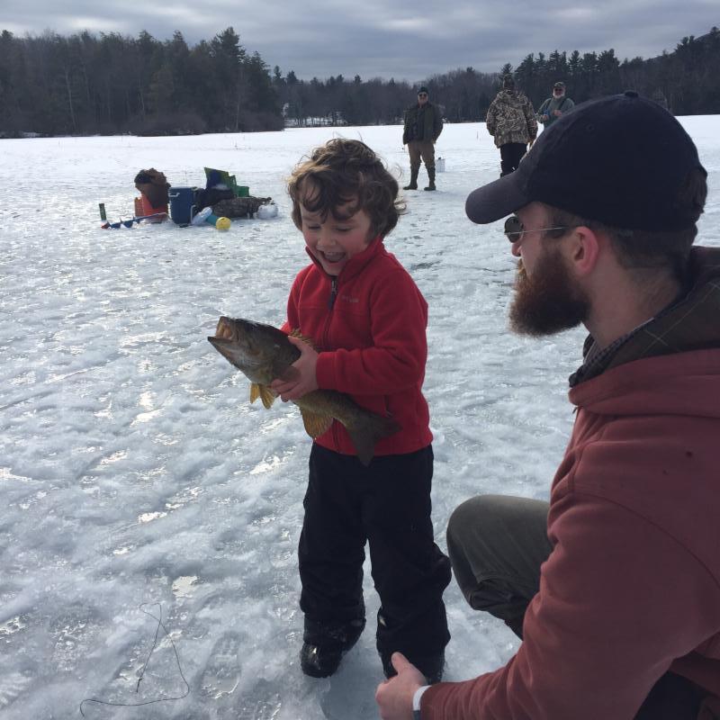 Ice fishing photo by Jennifer Zaso
