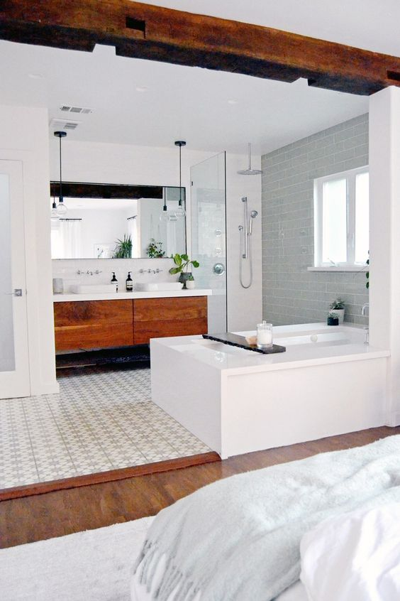 New Bathroom Trend Open Concept Master Bath