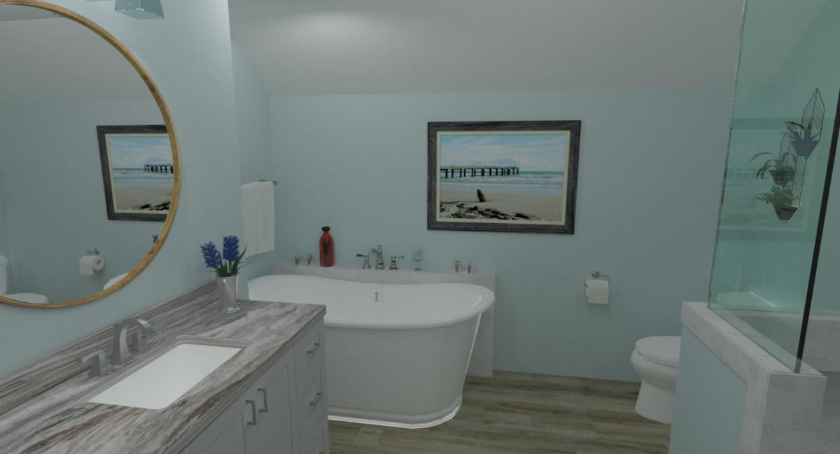 Photo Real Rendering of Quenville Master Bath Design