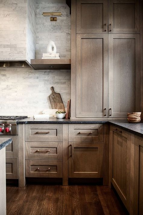 Kitchen Cabinet Trends, Oak, Cerused Finish, Driftwood Finish, Greige