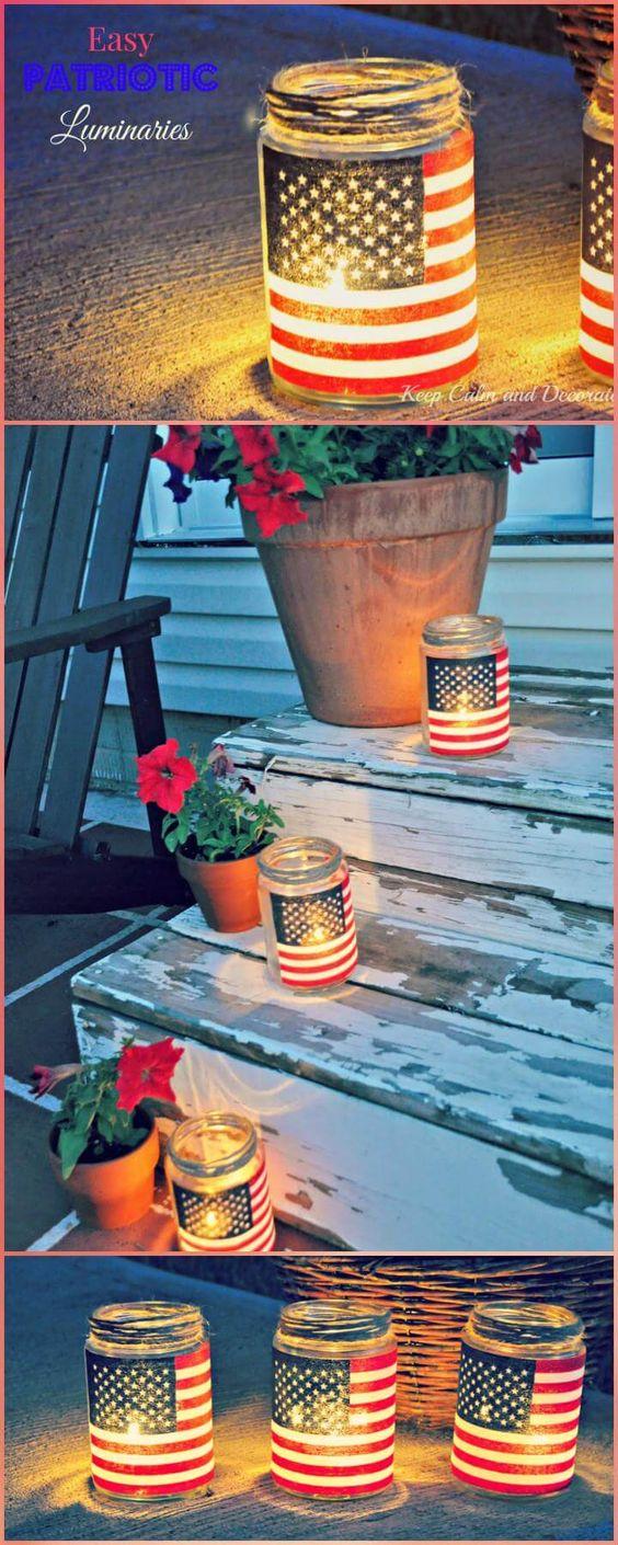 4th of July Party Decor DIY Luminaries