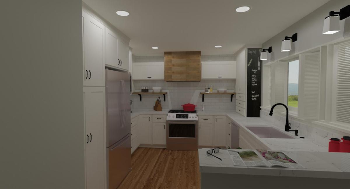 Sowers' Kitchen Photo-Real Rendering of Proposed Design