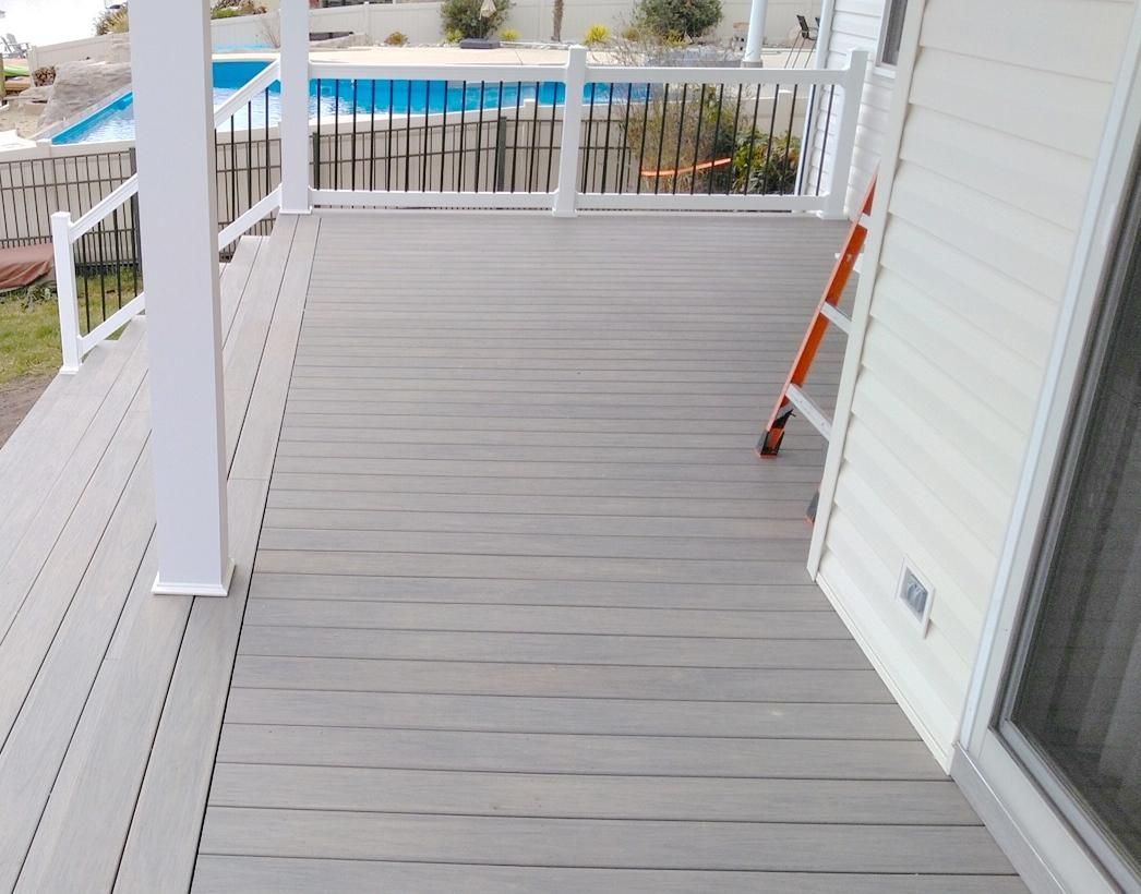 Hatchett Sunroom Addition Maintenance-Free PVC Deck Boards