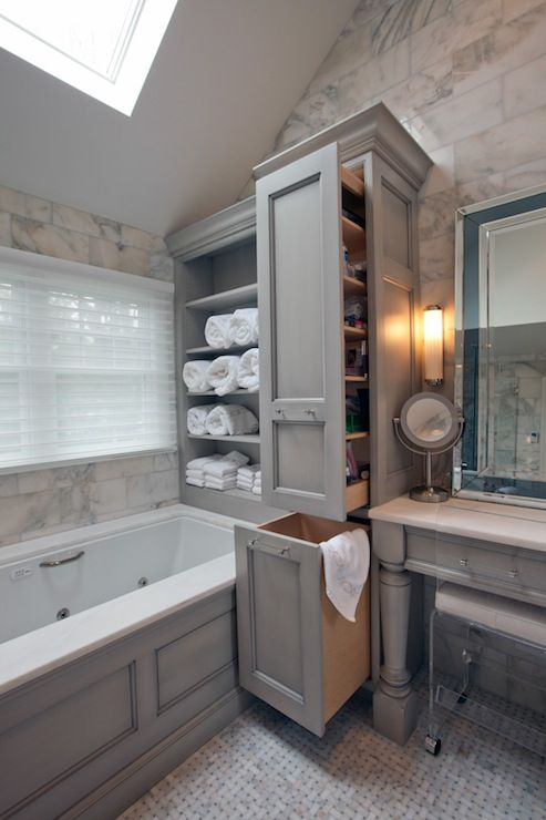 Bathroom Storage Pull-Out Cabinets